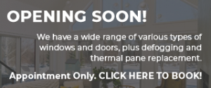 Windows and Doors Showroom opening soon! Click here to book appointment.